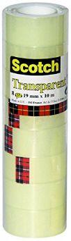 Nastro Adesivo Scotch Trasparente Acrilico Ufficio 19mmx10m 3M Post-it Conf. Singola