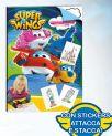 Super Wings Quadernone Album Da Disegno Con Stickers Attacca-Stacca