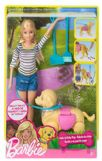 Barbie Bambola Barbie A Spasso Coi Cuccioli