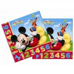 Mickey Mouse Pack 20 Tovaglioli di Carta Festa Clubhouse Disney
