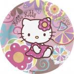 Hello Kitty Pack 10 Piatti Cartone Festa Bamboo