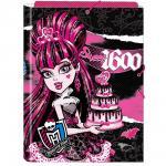 Monster High Carpetta A4 Chiusura Elastici Con Alette Draculaura 1600