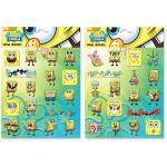 Spongebob Stickers Medi Metallitzzati